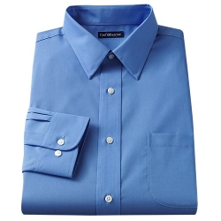 Croft & Barrow - Slim-Fit Solid Broadcloth Point-Collar Dress Shirt
