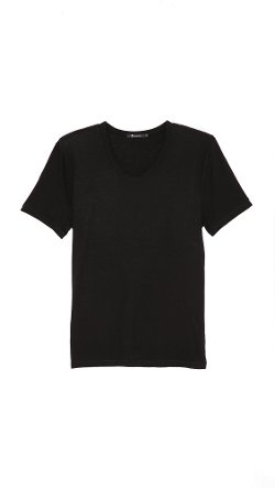 T by Alexander Wang  - Classic Low Neck T-Shirt
