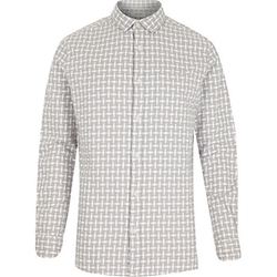 River Island - Basket Weave Check Shirt