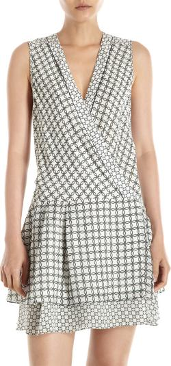 Proenza Schouler  - Wire-Print Wrap Dress