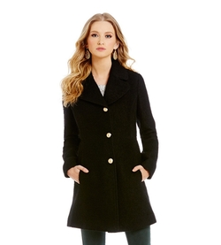 Jessica Simpson  - Single Breasted Notch Collar Bouclé Coat