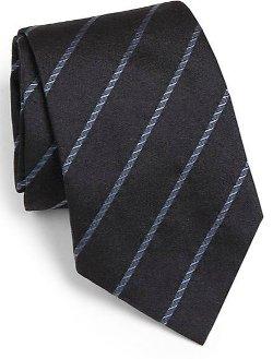 Armani Collezioni  - Diagonal Stripe Silk Tie