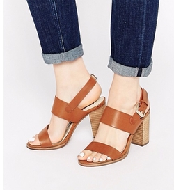 London Rebel - Strap Block Heeled Sandals