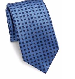 Saks Fifth Avenue Collection  - Basketweave Silk Tie