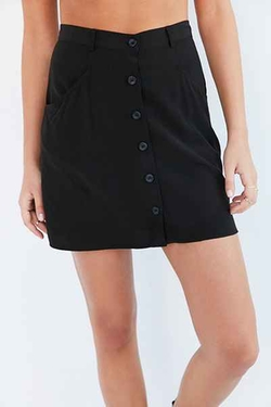 Cooperative  - Sally Button-Front Mini Skirt