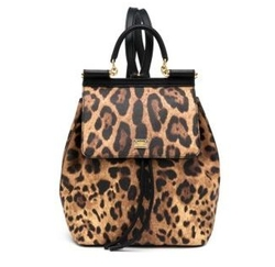Dolce & Gabbana - Sicily Small Leopard-Print Coated Canvas & Leather Backpack