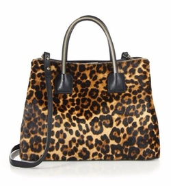 Milly - Leopard-Print Satchel Bag