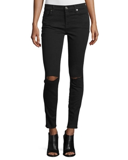 7 For All Mankind - The Ankle Skinny Ripped Jeans