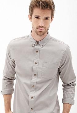 Forever21 - Classic Fit Pocket Shirt