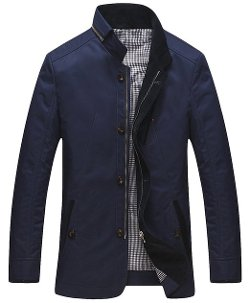 Sierbite - Stand Collar Slim Fit Jackets