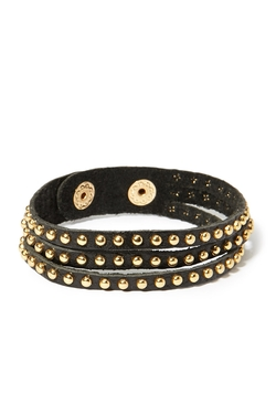 Forever21 - Studded Genuine Leather Bracelet