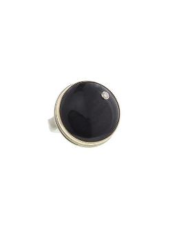 Jamie Joseph - Round Black Obsidian Ring
