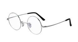 Agstum - Titanium Retro Round Prescription Eyeglasses