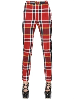 Vivienne Westwood - Plaid Washed Cotton & Wool Pants
