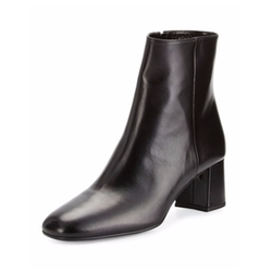 Prada - Leather Square-Toe Ankle Boots