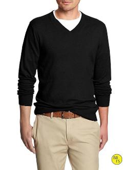 BANANA REPUBLIC - Factory Classic V-Neck Sweater