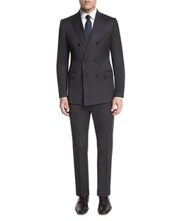 Armani Collezioni  - M-Line Double-Breasted Wool Two-Piece Suit