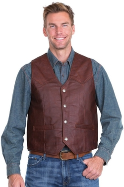 Overland Sheepskin Co - Sonoma Bison Leather Vest