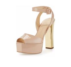 Giuseppe Zanotti - Lavinia Patent Platform Sandals