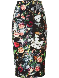MCQ by Alexander McQueen  - Floral Print Pencil Skirt