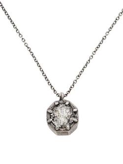 Lauren Wolf - Oxidized Octagon Pendant Necklace