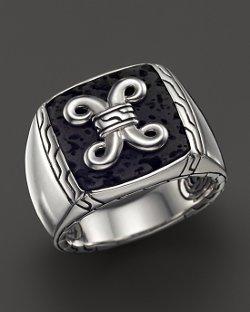 John Hardy  - Batu Dayak Sterling Silver Signet Ring