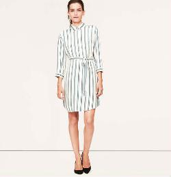 Loft - Striped Shirtdress