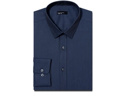 Bar III  - Slim-Fit Solid Dress Shirt