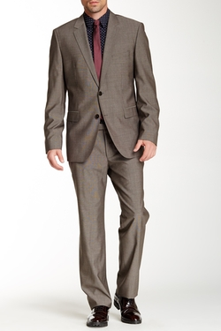 Hugo Boss - Sharkskin Notch Lapel Wool Suit