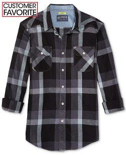American Rag - Slim-Fit Plaid Shirt
