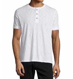 Vince  - Short-Sleeve Slub Henley T-Shirt
