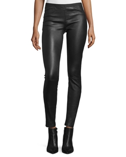 Helmut Lang  - Leather Ankle Leggings