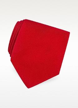 Forzieri - Solid Twill Silk Tie