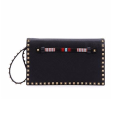 Valentino - Rockstud Medium Beaded Flap Clutch Bag