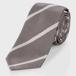 Paul Smith - Diagonal-Stripe Narrow Silk Tie