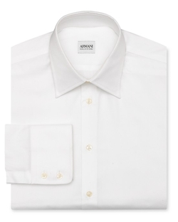Armani Collezioni  - Solid Oxford Dress Shirt