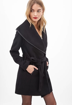 Forever21 - Contemporary Shawl Collar Coat