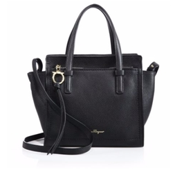 Salvatore Ferragamo - Amy Mini Pebbled Leather Tote Bag