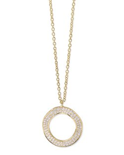 Ippolita	  - Stardust 18k Gold Diamond Open Circle Pendant Necklace