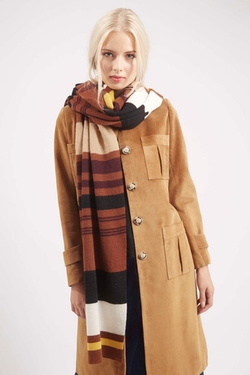 Topshop - Knitted Skinny Stripe Scarf