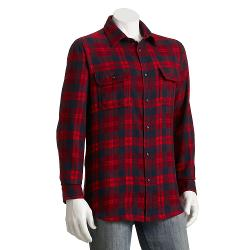 SONOMA life + style - Plaid Flannel Casual Button-Down Shirt