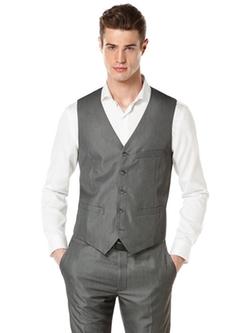 Perry Ellis - Micro Twill Heather Suit Vest