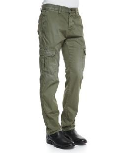 Rag & Bone  - Radar Distressed Cargo Pants, Army Green
