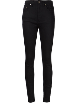 Saint Laurent  - High Waist Skinny Jeans