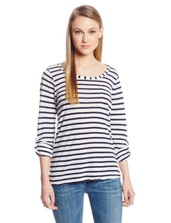 Splendid - Venice Stripe Pocket Long Sleeve Tee Shirt