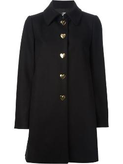 Love Moschino  - Heart Button Overcoat