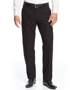 Alfani  - Solid Slim-Fit Plaid Pants