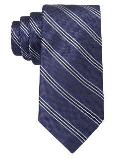 BLACK BROWN - 1826 Silk Herringbone Stripe Tie