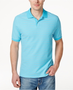 Club Room - Performance Short-Sleeve Stripe Polo Shirt