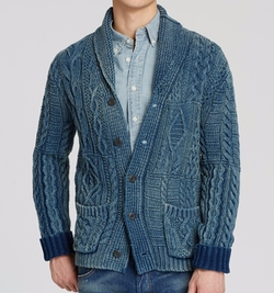 Polo Ralph Lauren - Indigo Cotton Shawl Cardigan
